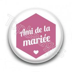 Badge : Hexagone rose, Ami de la mariée