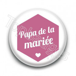 Badge : Hexagone rose, Papa de la mariée