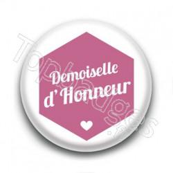 Badge : Hexagone rose, Demoiselle d'Honneur