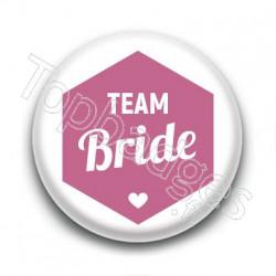 Badge : Hexagone rose, Team Bride