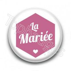 Badge : Hexagone rose, La Mariée
