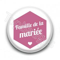 Badge : Hexagone rose, Famille de la Mariée