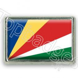 Pins chromé drapeau des Seychelles