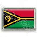 Pins chromé drapeau du Vanuatu