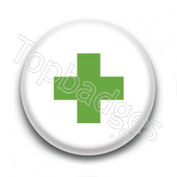 Badge : Croix verte