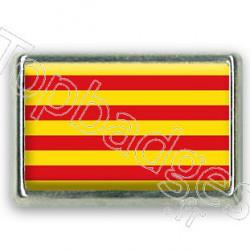 Pins rectangle : Drapeau Catalogne