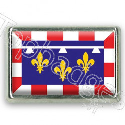 Pins rectangle : Drapeau Centre-Val-de-Loire