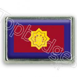 Pins chromé drapeau de l'armée du salut