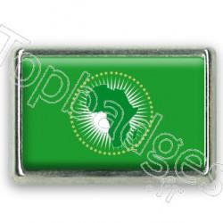Pins chromé drapeau de l'Union Africaine