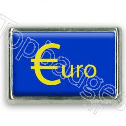 Pins chromé drapeau de la zone euro
