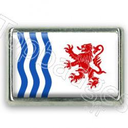 Pins chromé drapeau de la nouvelle Aquitaine