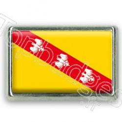 Pins chromé drapeau de la Lorraine