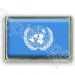 Pins chromé drapeau de l'ONU