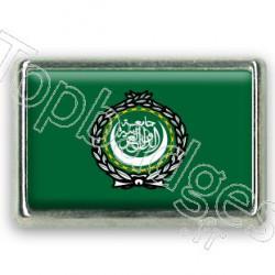 Pins chromé drapeau de la ligue arabe
