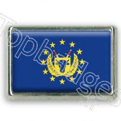 Pins chromé drapeau des forces armées de l'Union Européenne