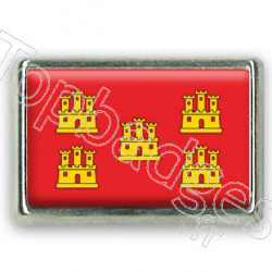 Pins chromé drapeau du Poitou-Charentes