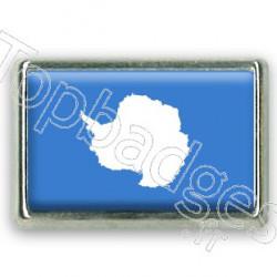 Pins chromé drapeau de l'Antarctique