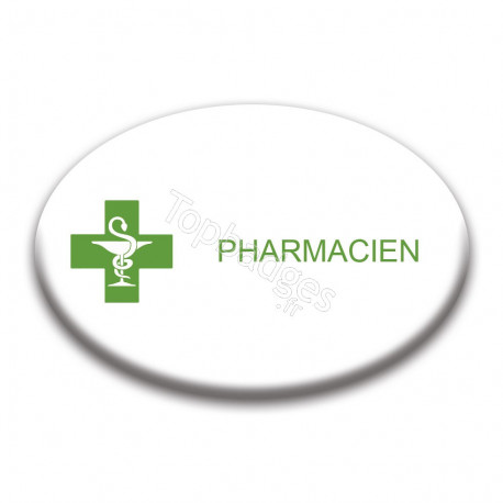Badge ovale : Pharmacien