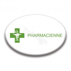 Badge ovale : Pharmacienne