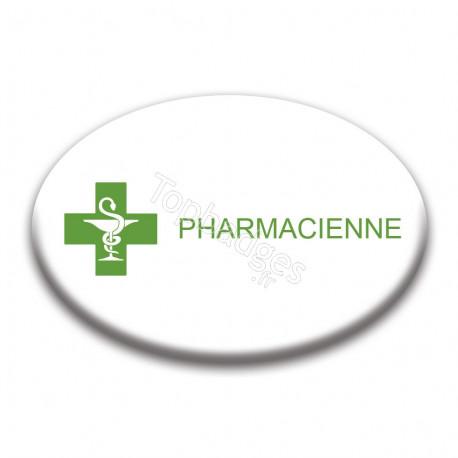 Badge ovale : Pharmacienne