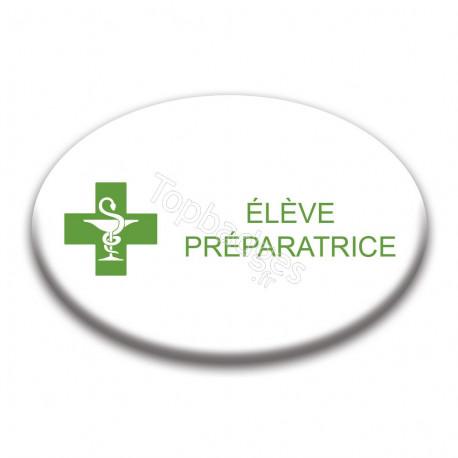 Badge ovale : Élève préparatrice