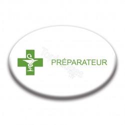 Badge ovale : Préparateur