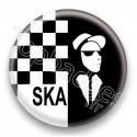 Badge Ska Damier