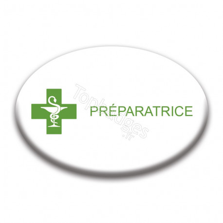 Badge ovale : Préparatrice