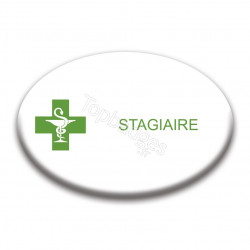Badge ovale : Stagiaire
