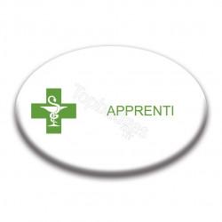 Badge ovale : Apprenti