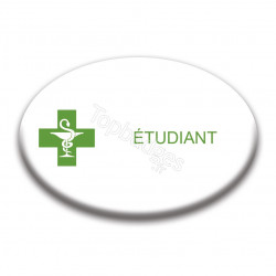 Badge ovale : Étudiant
