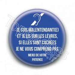 Badge : Malentendant(e), je lis sur les lèvres