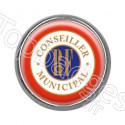 Pins rond chromé : Conseiller municipal