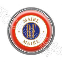 Pins rond chromé : Maire