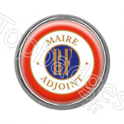 Pins rond chromé : Maire adjoint