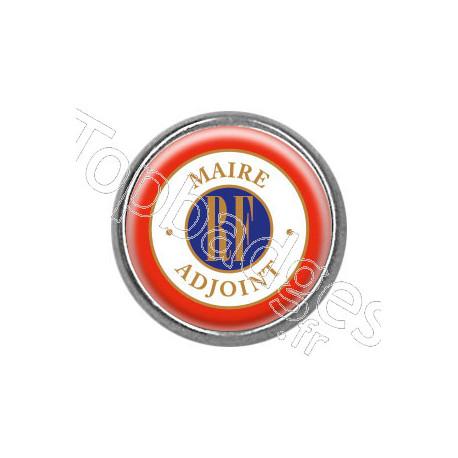 Pins rond chromé : Maire adjoint