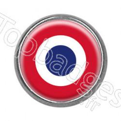Pins rond chromé : Cocarde française