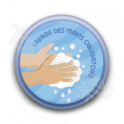 Badge : Lavage des mains obligatoire