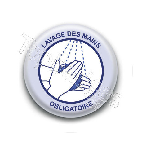 Badge : Lavage des mains obligatoire, gouvernement