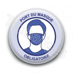 Badge : Port du masque obligatoire, gouvernement