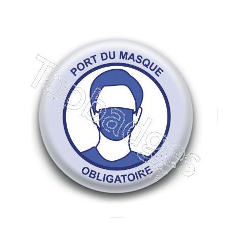Badge : Port du masque obligatoire, gouvernement