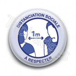 Badge : Distanciation sociale, gouvernement