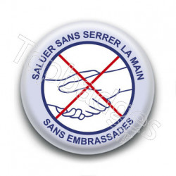 Badge : Saluer sans serrer la main, gouvernement