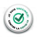 Badge : Je suis vacciné(e) contre la covid-19, check