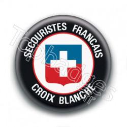 Badge : Secouristes français, croix blanche