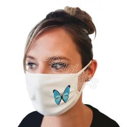 Masque 120 lavages : Papillon , morpho bleu