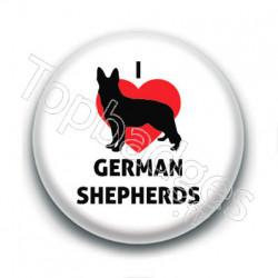 Badge : I love german shepherds