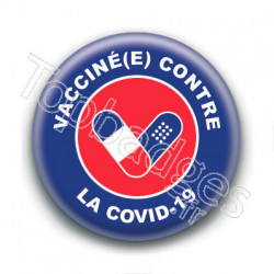 Badge : Vacciné.e contre la Covid-19, France