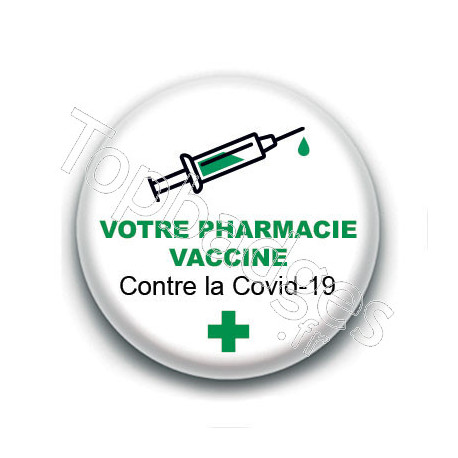 Badge : Votre pharmacie vaccine contre la Covid-19