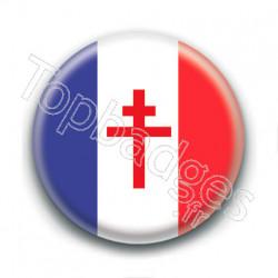 Badge : Drapeau de la France libre